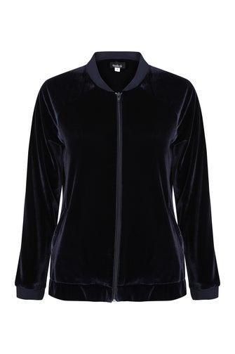 Velour Knit Jacket