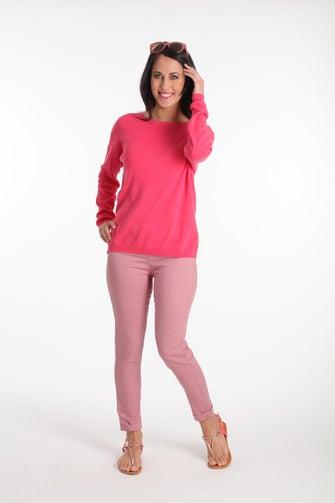 Coloured Denim Capri Jean
