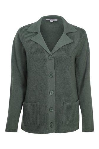 100% Worsted Wool Cardigan