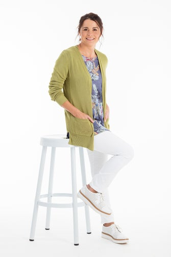 Light Viscose Rich Knitwear Cardigan