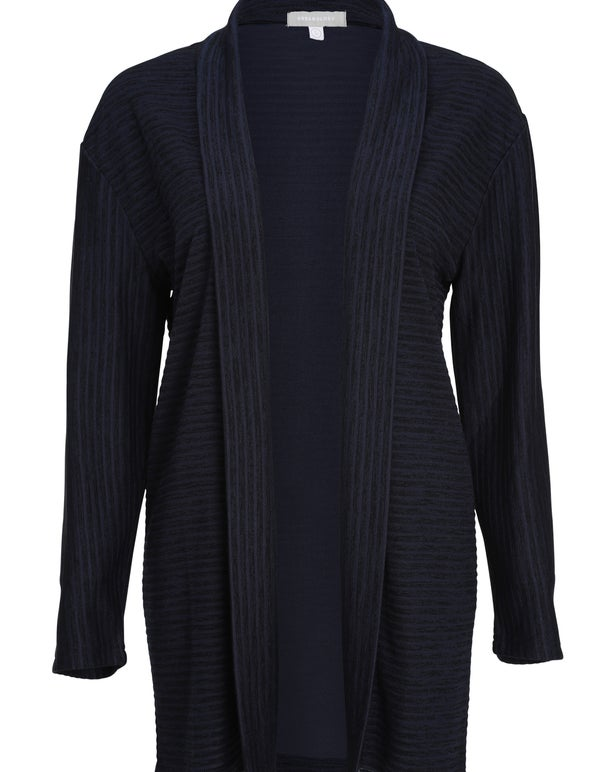 Textured Rib Knit Cardigan