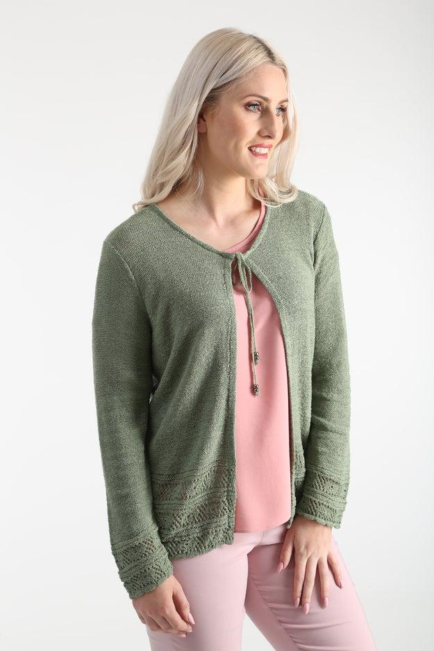 Ribbon Knitwear Cardigan