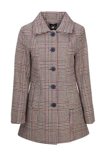 Textured Wool Blend Coat