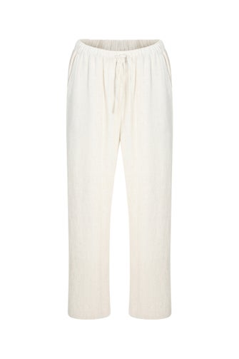 Viscose Linen Blend Crop Pant