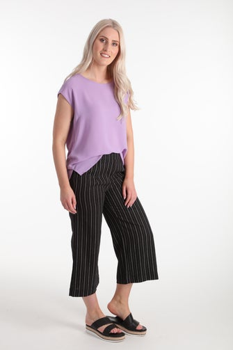 Linen Rich Stripe Culottes