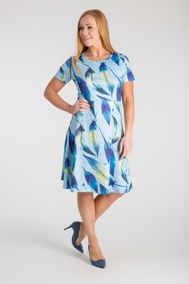 SLINKY KNIT DIGITAL PRINT DRESS