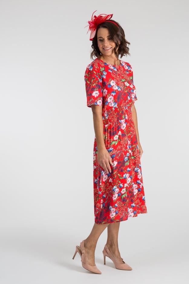TEXTURED VISCOSE DRESS