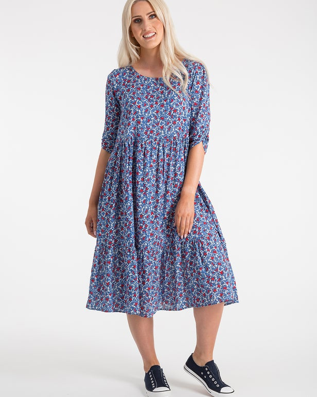 Printed 100% Cotton Dress