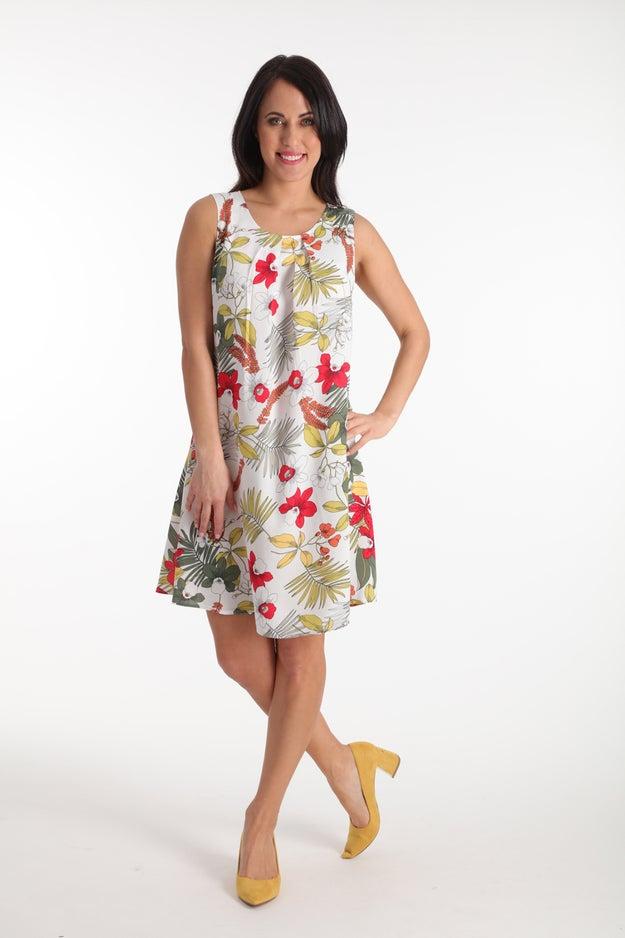 Printed Rayon Dress