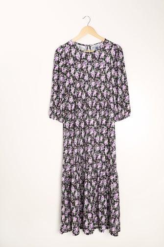Printed Mini Pleat Dress