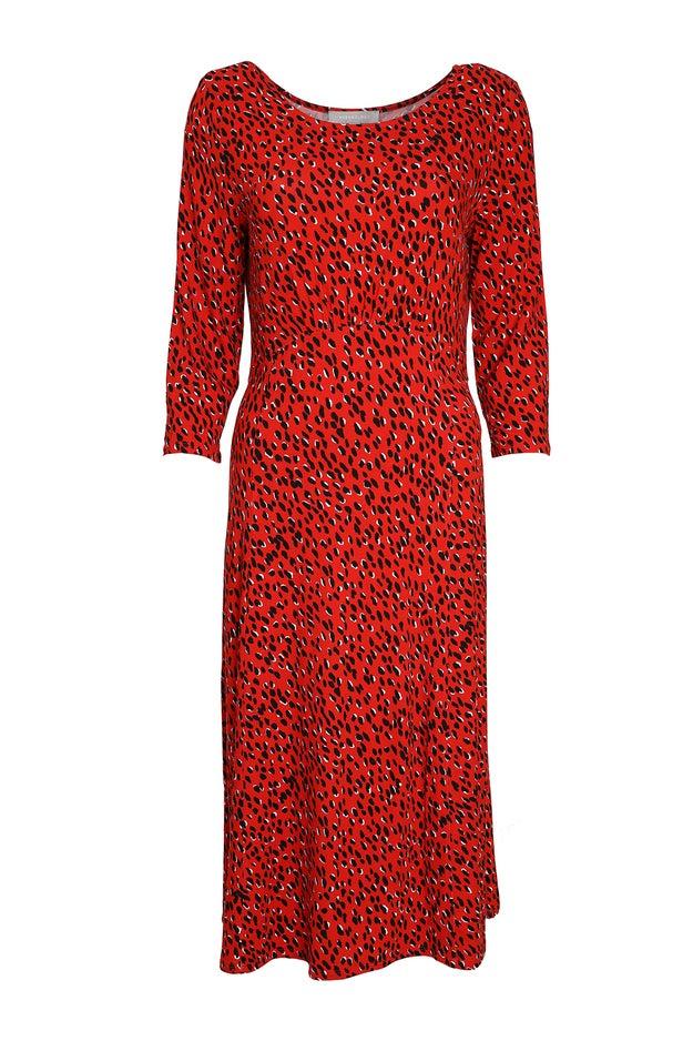 Printed Viscose Knit Dress