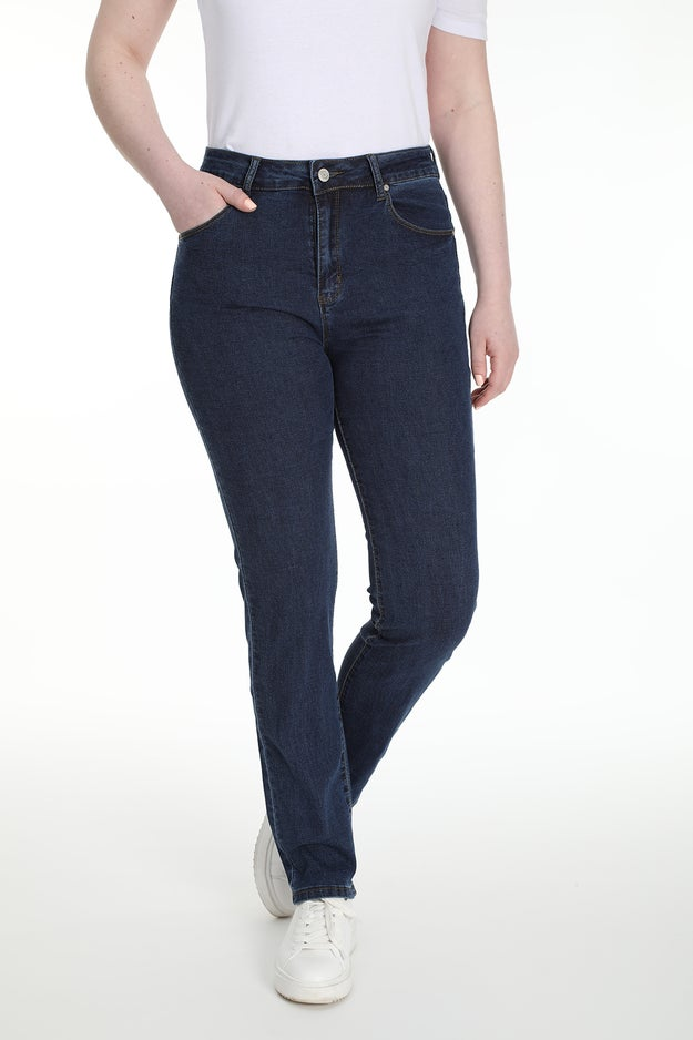 Straight 5 Pocket Extra Short Jean Wonder Denim