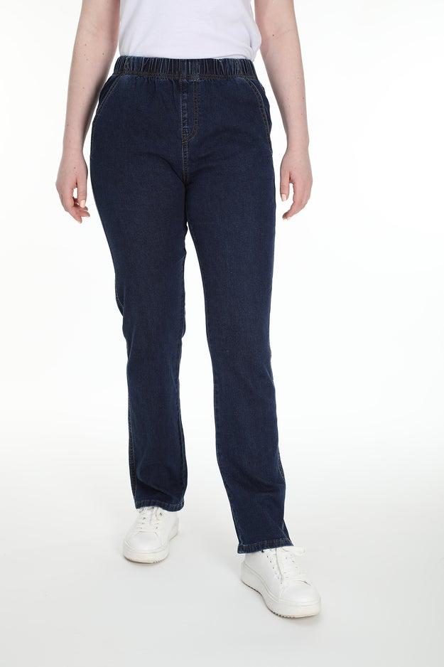 Straight Pull On Extra Short Jean Wonder Denim