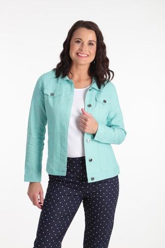 Linen Viscose Blend Jacket