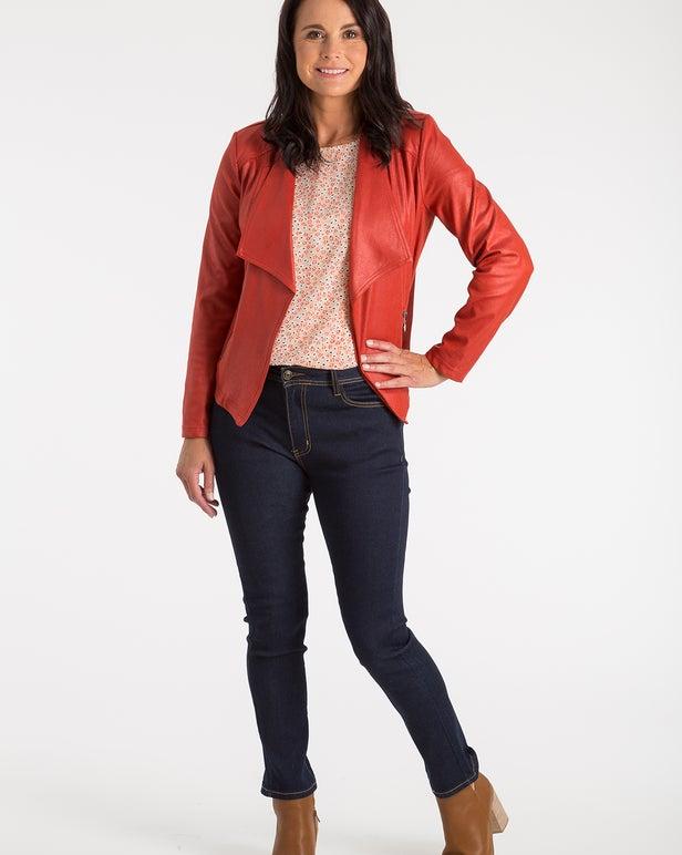 PU Leather Look Jacket