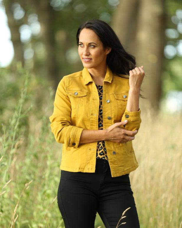 Coloured Denim Jacket