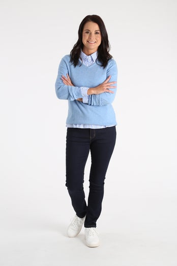 Merino Cotton Cashmere Blend Jersey
