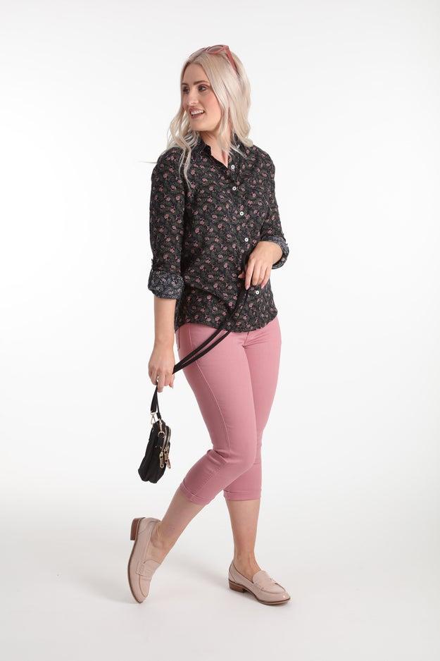 Coloured Denim Mid Calf Jean