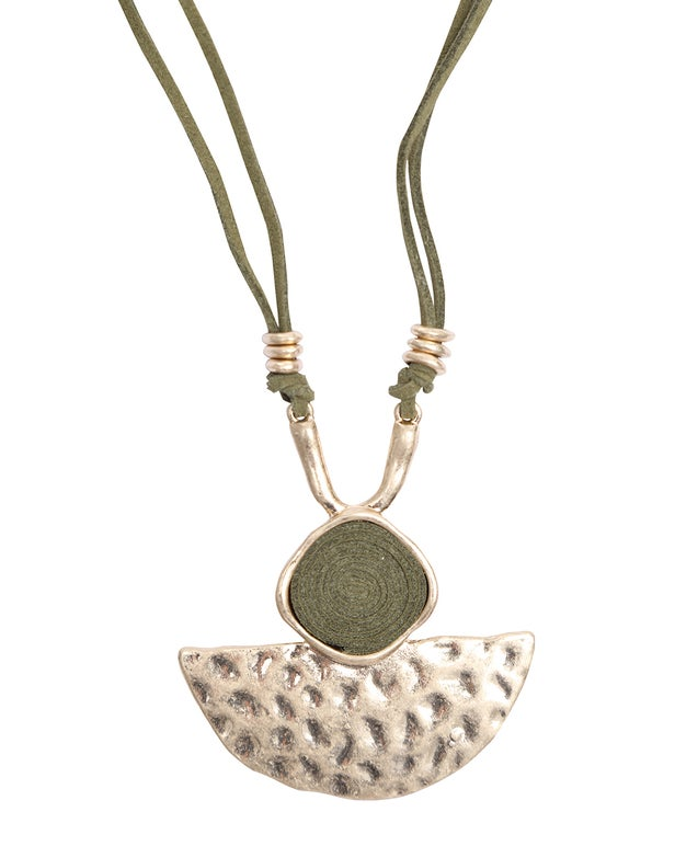 Green Necklace with Pendant
