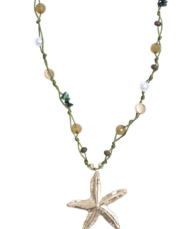 Beaded Necklace with Pendant