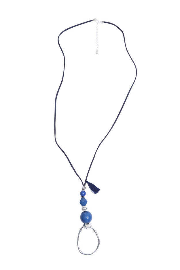Braid Necklace with Stone