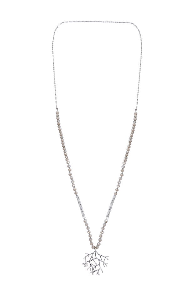 Silver Necklace with Pendant