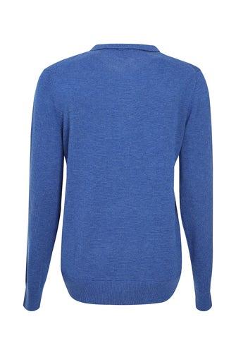 Fine Cozy Knitwear Polo Top