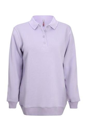 Brushed Fleece Polo Top
