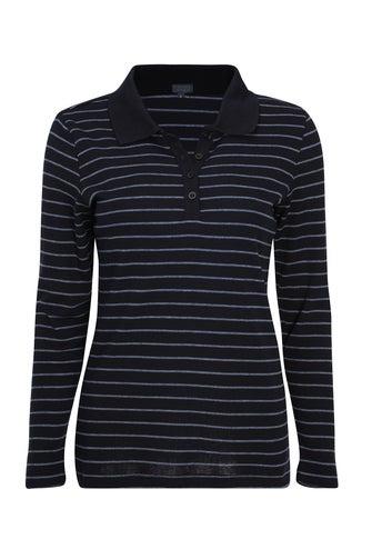 Stripe Skivvies Polo Top