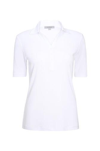 Poly Cotton Rib Polo Top