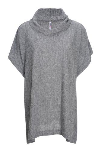 Soft Marle Knit Poncho