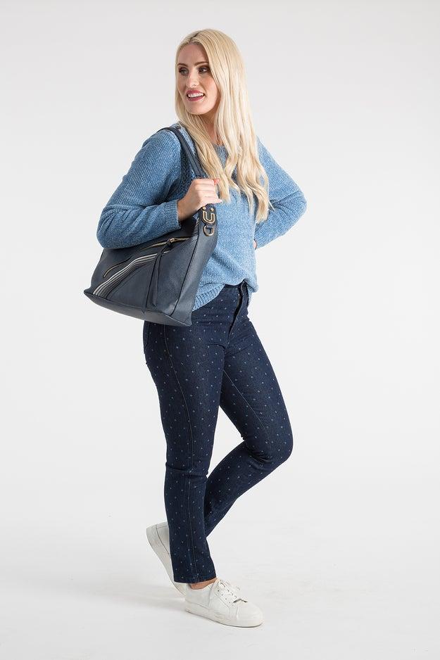 Printed Denim Regular Jean