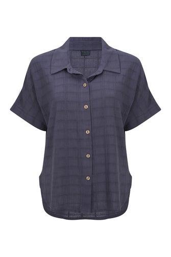 100% Textured Cotton Shirt