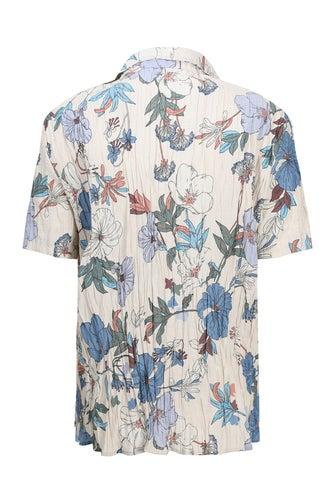 Printed Crush Crinkle Shirt