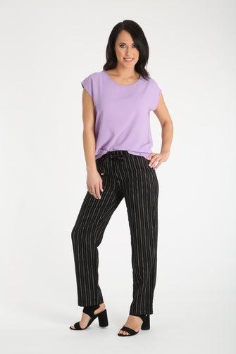 Linen Rich Stripe Short Pant