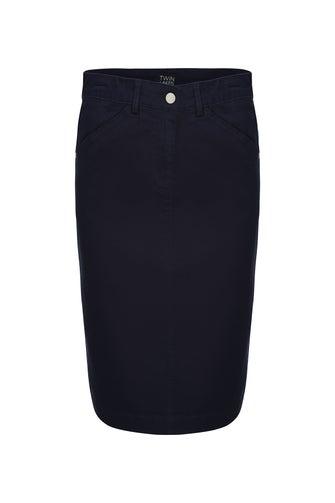 Summer Coloured Denim Skirt