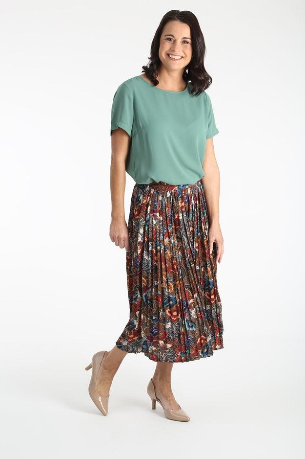 Printed Woven Skirt