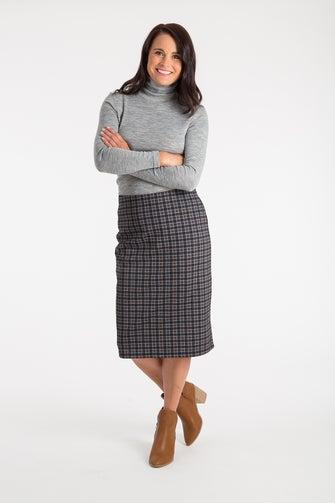 Printed Ponti Skirt