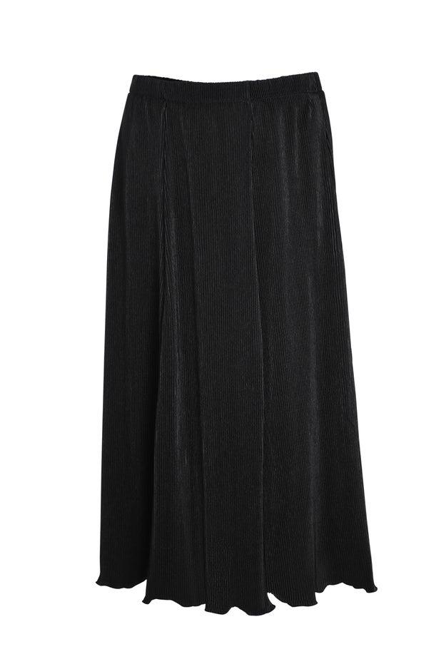 Plain Plisse Skirt