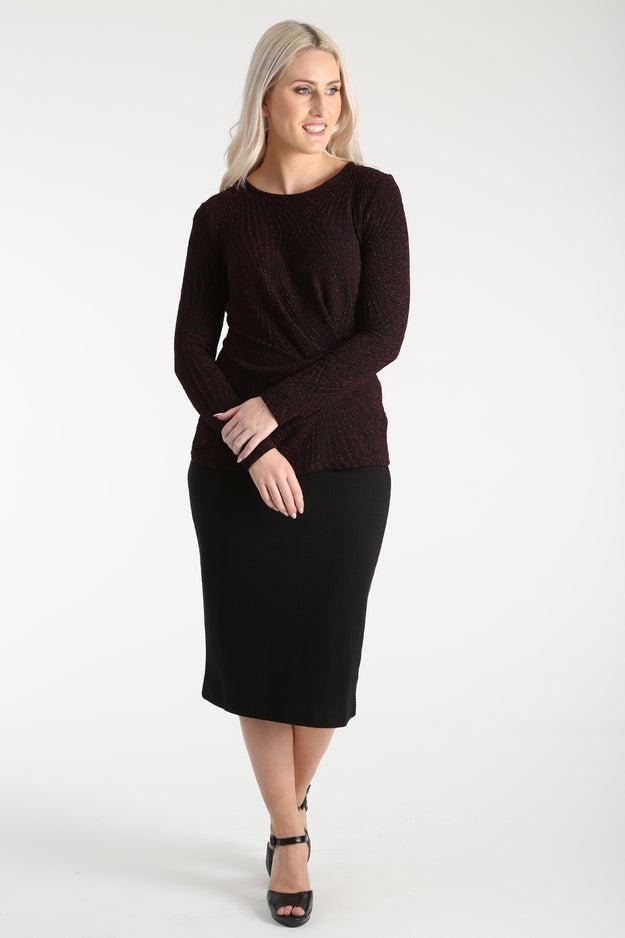 Textured Knit Skirt