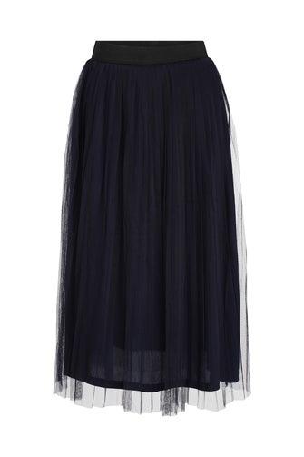 Pleated Mesh Skirt