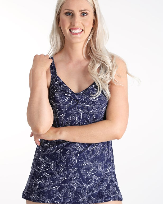Swim Dress, Mastectomy Prosthetic Cup Option