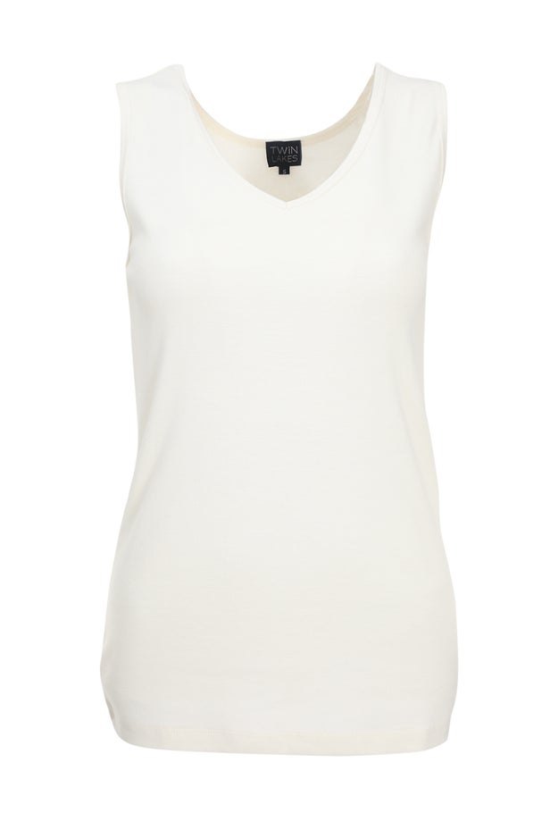 Poly Cotton Rib Tank