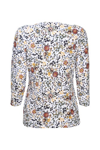 Printed Textured Knit Top