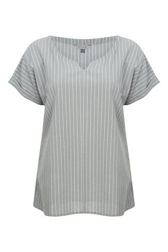 Cotton Linen Stripe Top