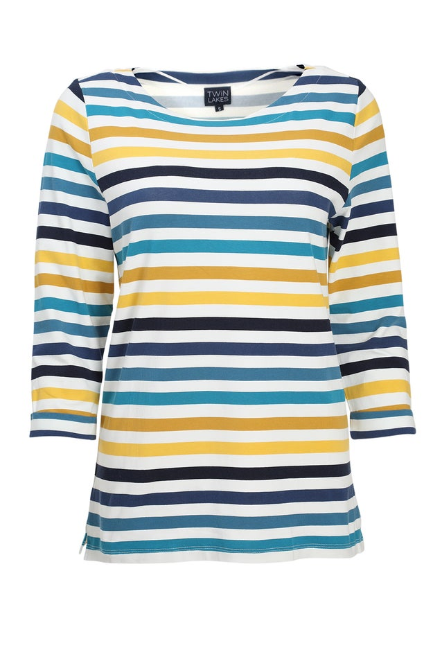Printed Cotton Knit Top