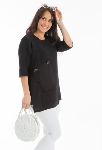 Mixed Linen Blend Tunic