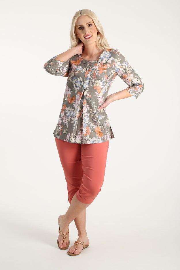 Linen Rich Printed Tunic